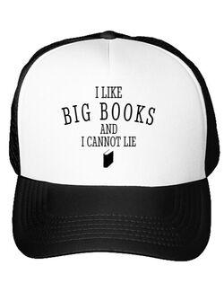 Sapca personalizata I like big books Alb
