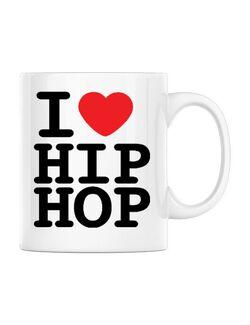 Cana personalizata I love hip hop Alb