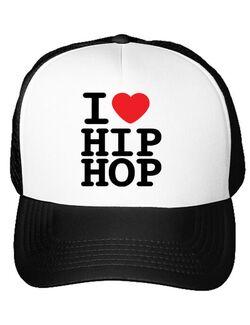 Sapca personalizata I love hip hop Alb