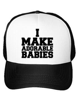 Sapca personalizata I make adorable babies Alb