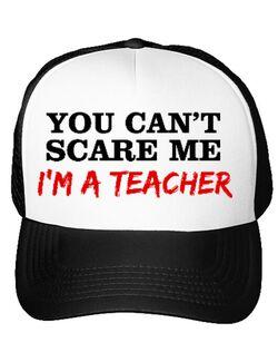 Sapca personalizata I'm a teacher Alb