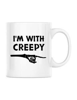 Cana personalizata I'm with creepy Alb