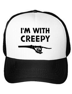 Sapca personalizata I'm with creepy Alb