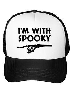 Sapca personalizata I'm with spooky Alb