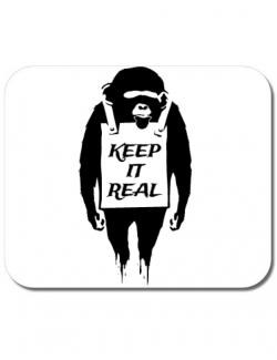 Mousepad personalizat Keep it real Alb