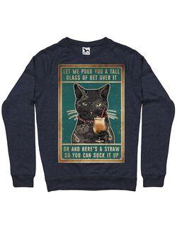 Bluza personalizata barbat Cu Pisici - Suck it Up Denim inchis