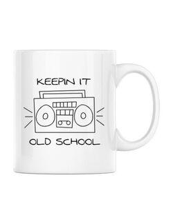 Cana personalizata Old school stereo Alb