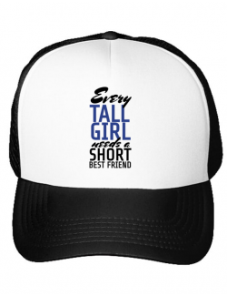 Sapca personalizata Tall best friend Alb