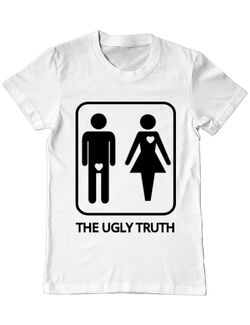 Tricou Burlaci ADLER The ugly truth Alb