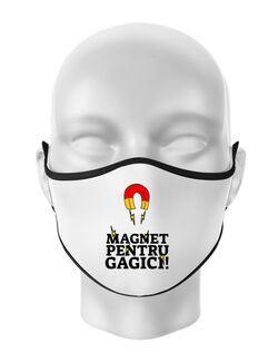 Masca personalizata reutilizabila Magnet pentru gagici Alb