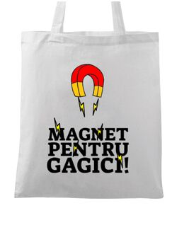 Sacosa din panza Magnet pentru gagici Alb