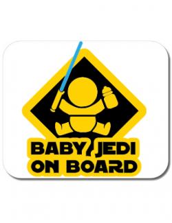 Mousepad personalizat Baby Jedi Alb