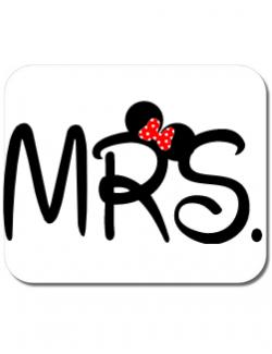 Mousepad personalizat Mrs Minnie Alb