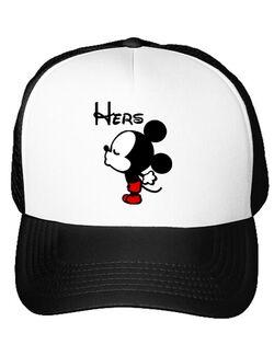 Sapca personalizata Hers Mickey Alb