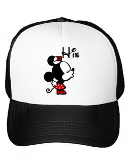 Sapca personalizata His Minnie Alb