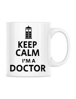 Cana personalizata I'm a doctor Alb