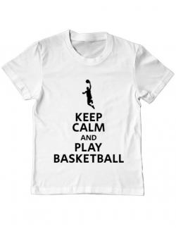 Tricou ADLER copil Play basketball Alb