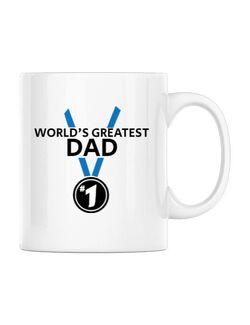 Cana personalizata World's greatest dad Alb