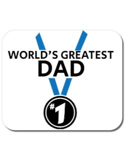 Mousepad personalizat World's greatest dad Alb