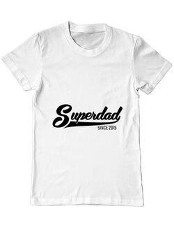 Tricou ADLER barbat Superdad Alb