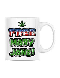 Cana personalizata Free Mary Jane Alb