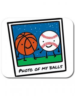 Mousepad personalizat Photo of my balls Alb
