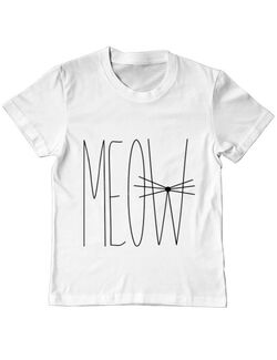 Tricou ADLER copil I'm a cat Alb