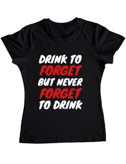 Tricou Burlacite ADLER Drink to forget Negru