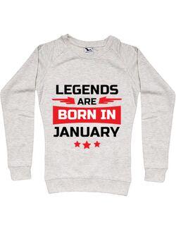 Bluza ADLER dama Legends are born in January Migdala melanj