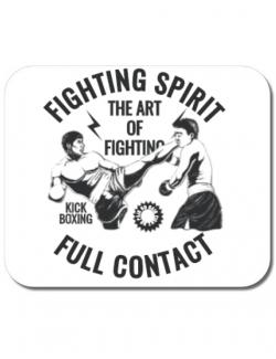 Mousepad personalizat Kick boxing Alb