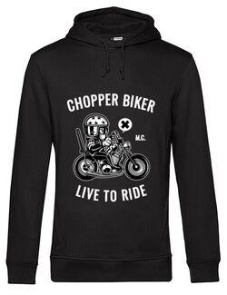 Hoodie barbat cu gluga Chopper biker Negru