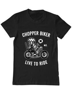 Tricou ADLER barbat Chopper biker Negru