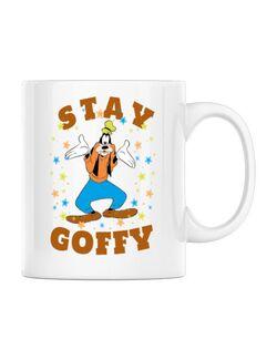 Cana personalizata Stay Goofy Alb