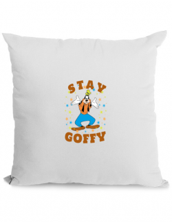 Perna personalizata Stay Goofy Alb