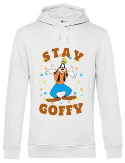 Hoodie barbat cu gluga Stay Goofy Alb