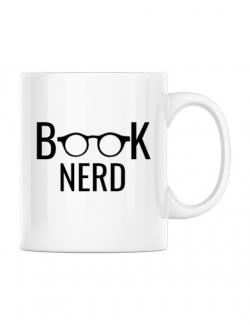Cana personalizata Book nerd Alb