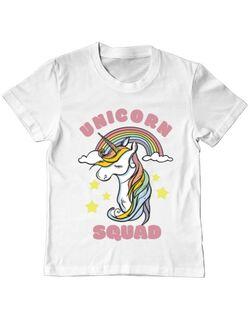 Tricou ADLER copil Unicorn squad Alb