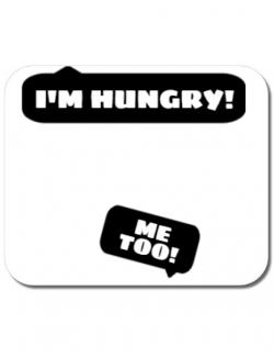 Mousepad personalizat Hungry Mommy Alb