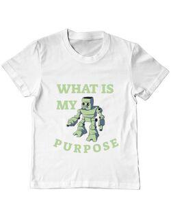Tricou ADLER copil What is my purpose Alb