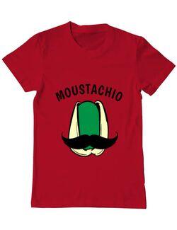 Tricou ADLER barbat Moustachio Rosu