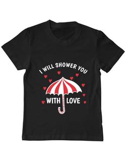 Tricou ADLER copil Raining love Negru
