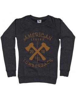 Bluza ADLER dama American lumberjack Negru melanj