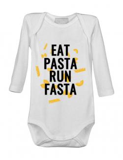 Baby body Eat pasta Alb