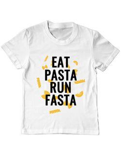 Tricou ADLER copil Eat pasta Alb