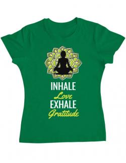 Tricou ADLER dama Inhale love Verde mediu