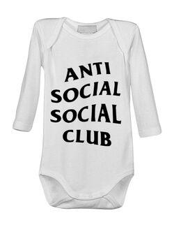 Baby body Anti social Club Alb