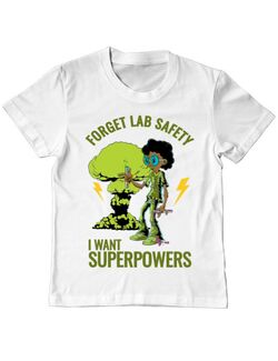 Tricou ADLER copil I want superpowers Alb