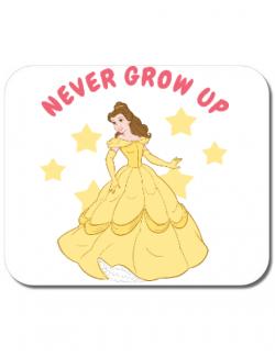 Mousepad personalizat Never grow up Alb