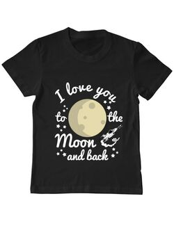 Tricou ADLER copil To the moon and back Negru