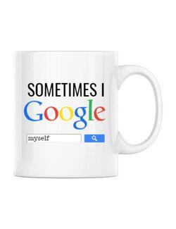 Cana personalizata I google myself Alb